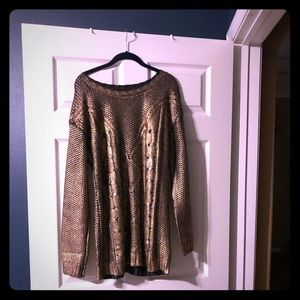 Gold dipped sweater dress